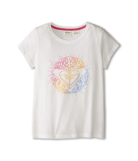 Roxy Kids - Good Vibes Tee (Little Kids/Big Kids) (White) Girl's T Shirt
