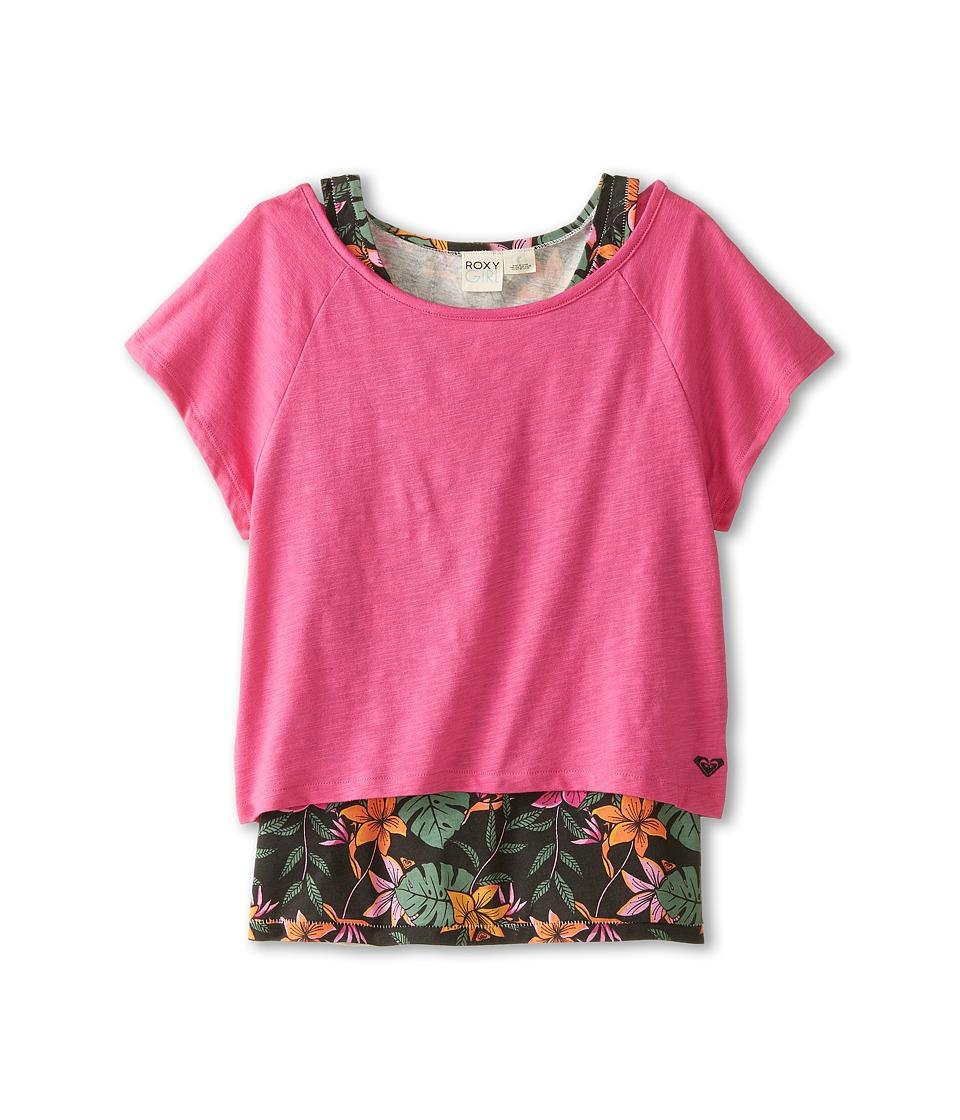 Roxy Kids - Kona Twofer Tee (Little Kids/Big Kids) (Rose Violet) Girl