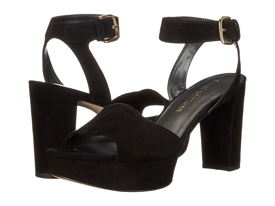 Stuart Weitzman - Realdeal (Black Suede) Women's Wedge Shoes