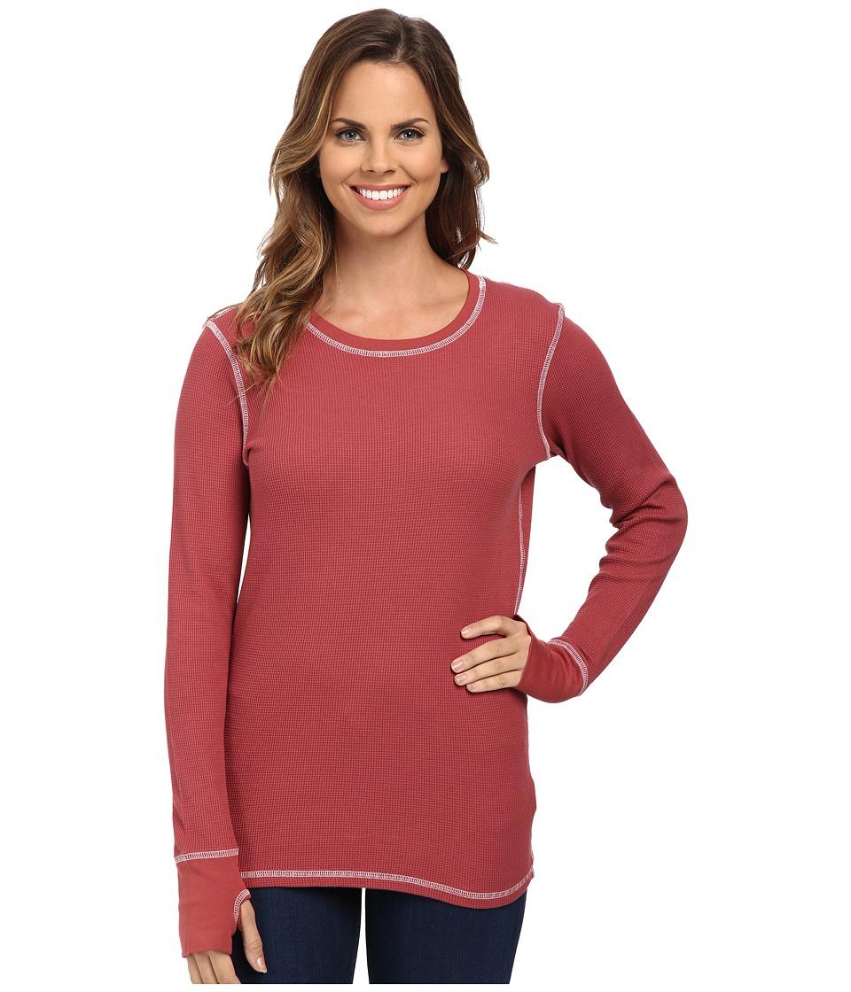 Allen Allen - L/S Thumbhole Tee Thermal Crew (Apple) Women's Long Sleeve Pullover