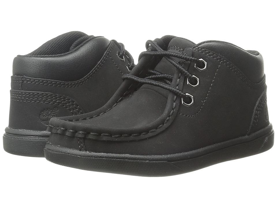 Timberland Kids - Groveton Leather Moc Toe (Toddler/Little Kid) (Black) Boy's Shoes