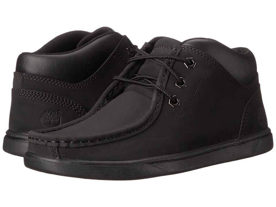 Timberland Kids - Groveton Leather Moc Toe (Big Kid) (Black) Boy's Shoes