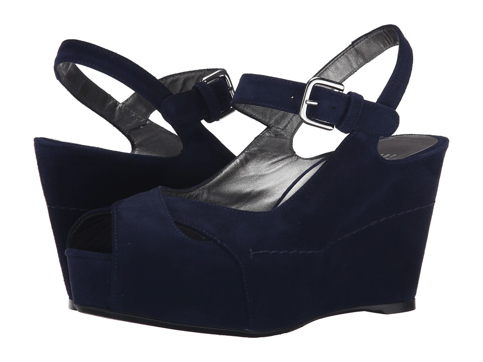 Stuart Weitzman - Turnover (Nice Blue Suede) Women's Wedge Shoes