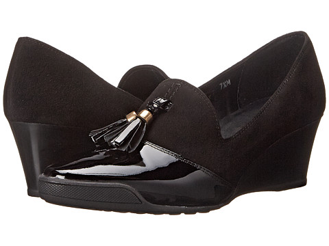 Sesto Meucci - Daffy (Black Molly Suede/Black Patent) Women's Shoes