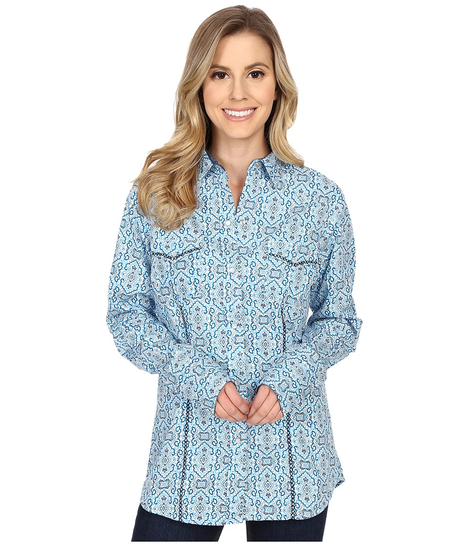 Roper - 0188 Stamper Print (Blue) Women's Clothing