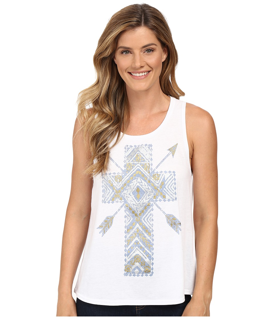 Roper - 0229 Lightweight Jersey Muscle Tee (White) Women's T Shirt