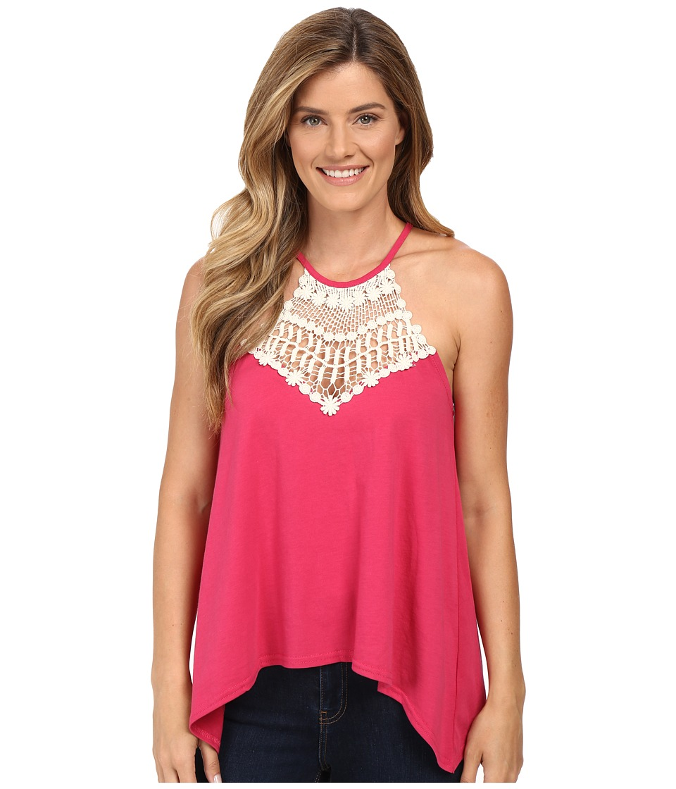 Roper - 0229 Jersey Halter Top (Red) Women's Sleeveless