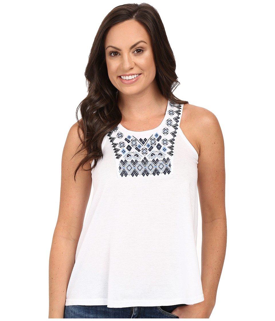 Roper - 0229 Jersey Top (White) Women's Sleeveless