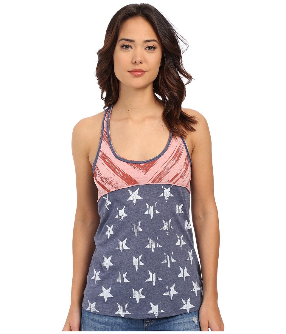 Roper - 0227 Heather Jersey Pieced Tank Top (Blue) Women's Sleeveless