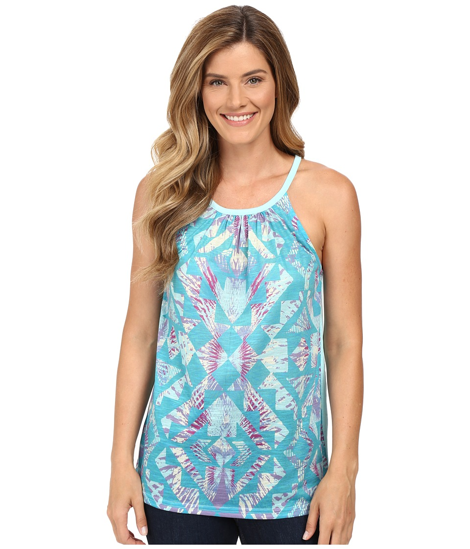 Roper - 0231 Slub Jersey Halter Tank Top (Blue) Women's Sleeveless