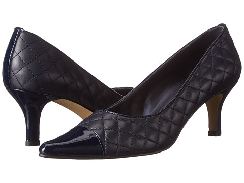 Vaneli - Laurus (Navy Quilted Nappa/Navy Patent) High Heels