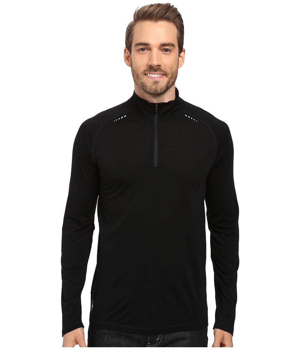 Smartwool - PhD Ultra Light Zip T (Black) Men's Long Sleeve Pullover