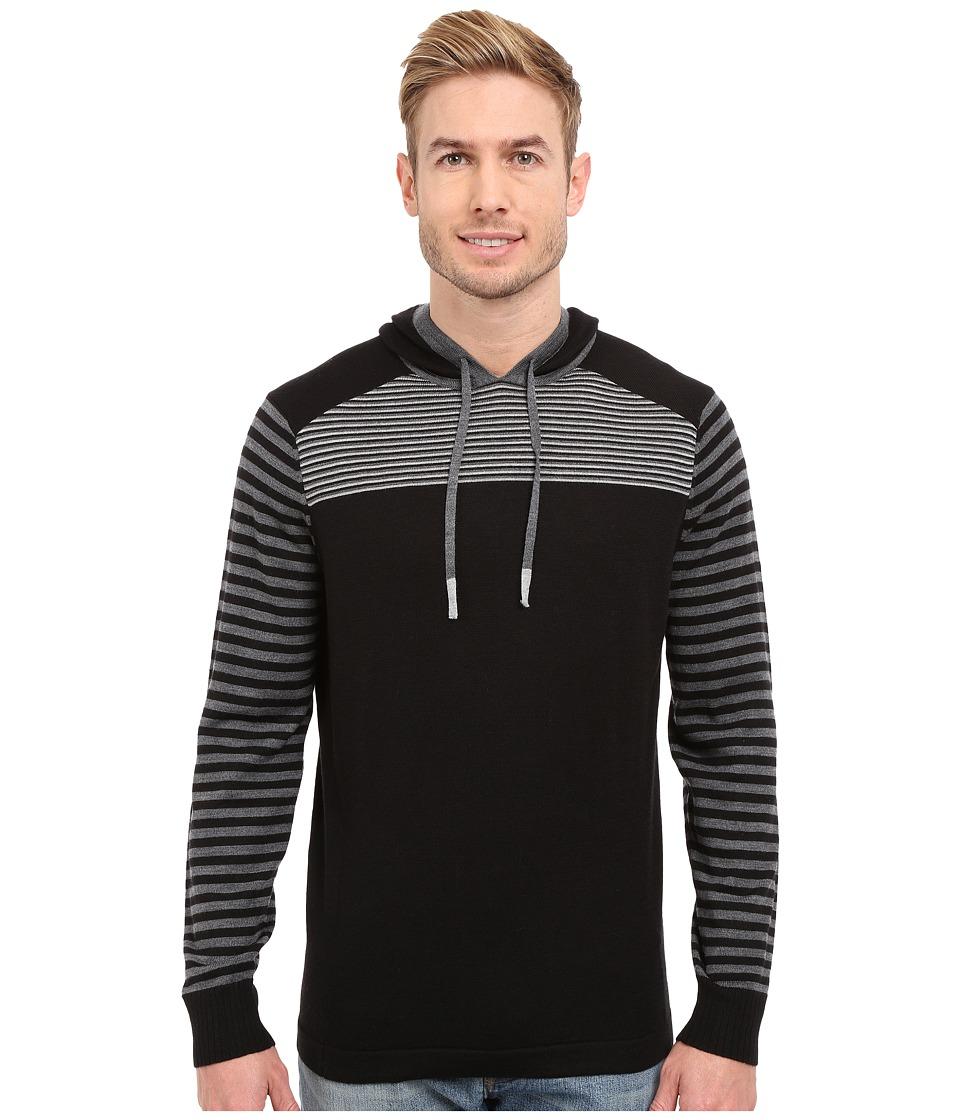 Smartwool - Kiva Ridge Striped Hoodie (Black) Men's Sweatshirt