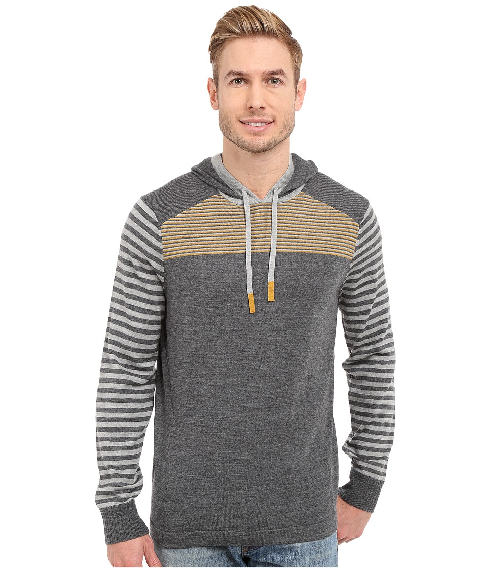 Smartwool - Kiva Ridge Striped Hoodie (Medium Gray Heather) Men's Sweatshirt