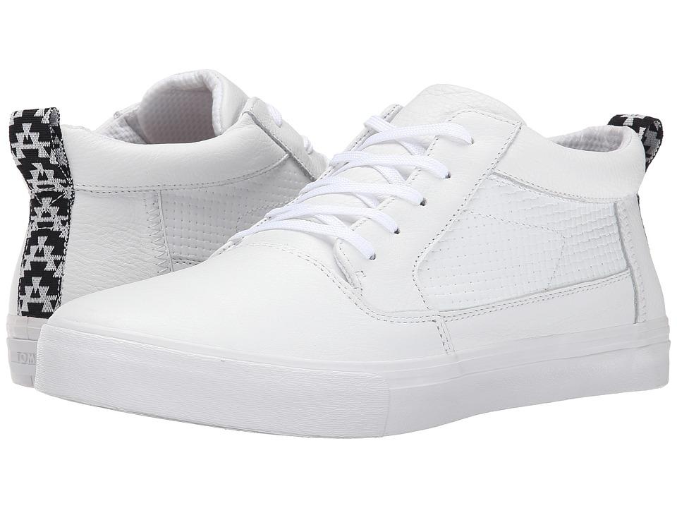 TOMS Valdez Mid (White Full Grain Leather/Emboss) Men