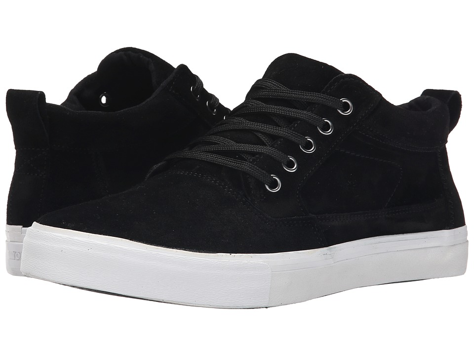 TOMS Valdez Mid (Black Suede) Men