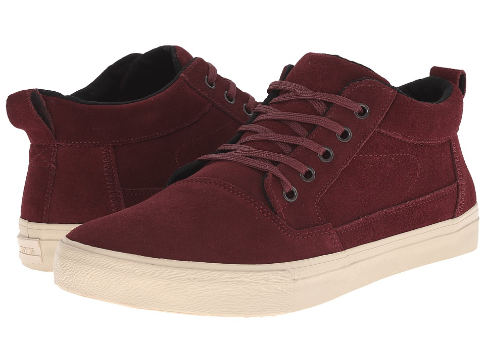 TOMS - Valdez Mid (Oxblood Suede) Men's Lace up casual Shoes
