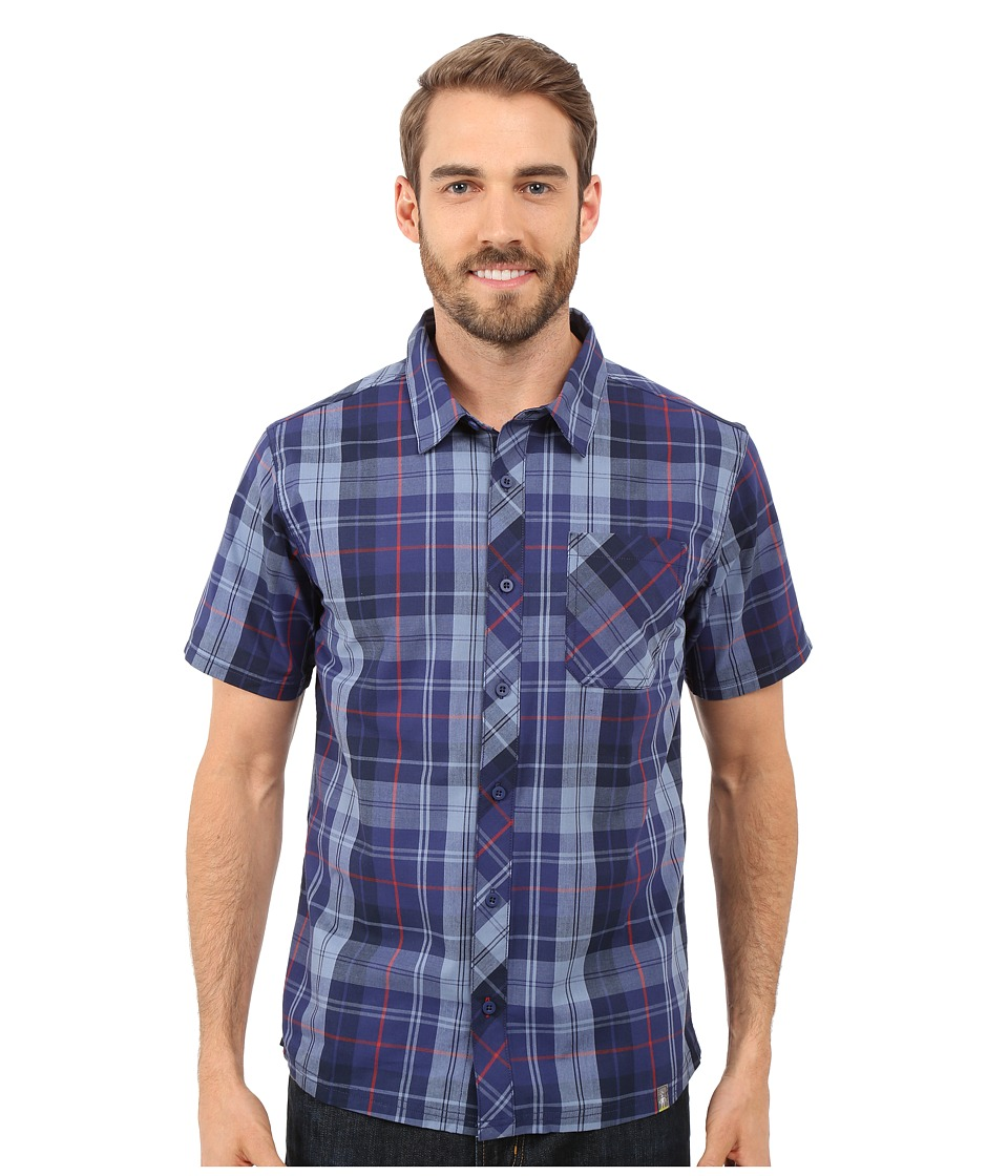 Smartwool - Summit County Plaid Shirt (Ink) Men's Short Sleeve Button Up