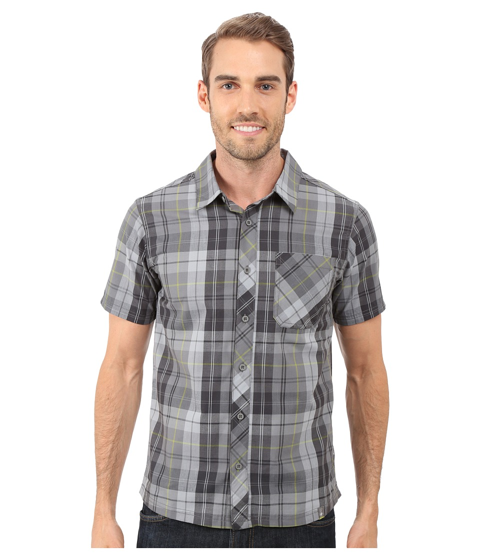Smartwool - Summit County Plaid Shirt (Medium Gray) Men's Short Sleeve Button Up