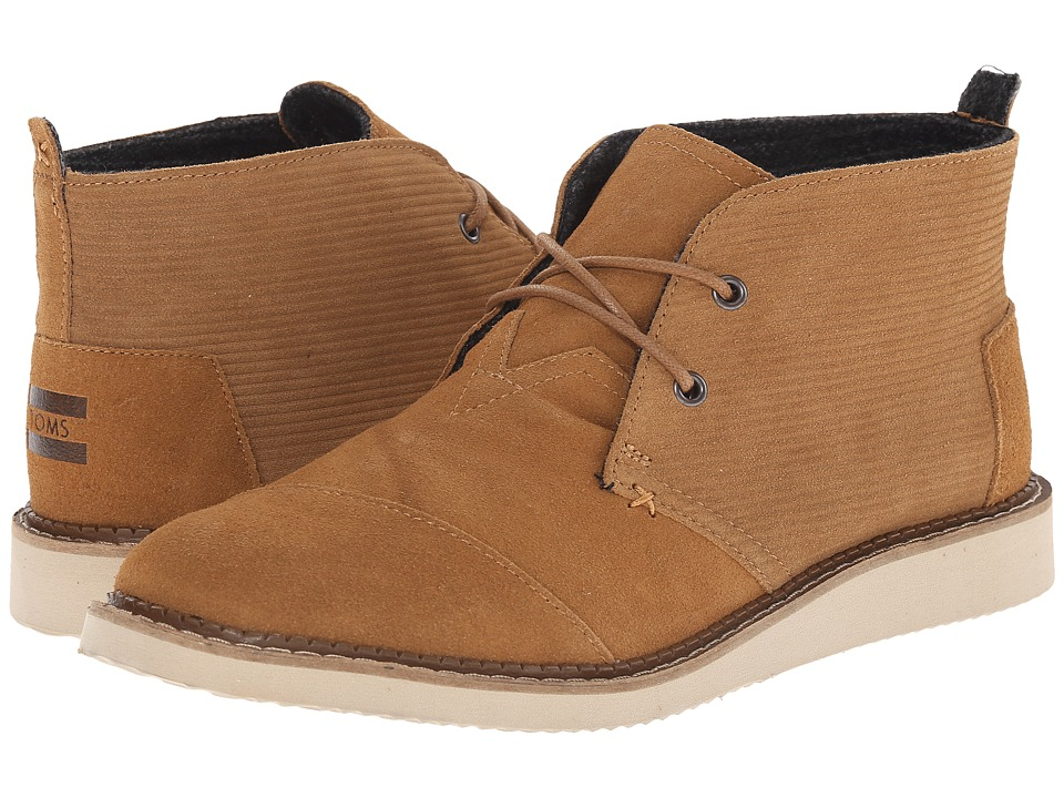 TOMS - Mateo Chukka Boot (Chestnut Brown Embossed Suede) Men's Lace-up Boots