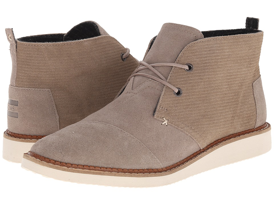TOMS - Mateo Chukka Boot (Desert Taupe Embossed Suede) Men's Lace-up Boots