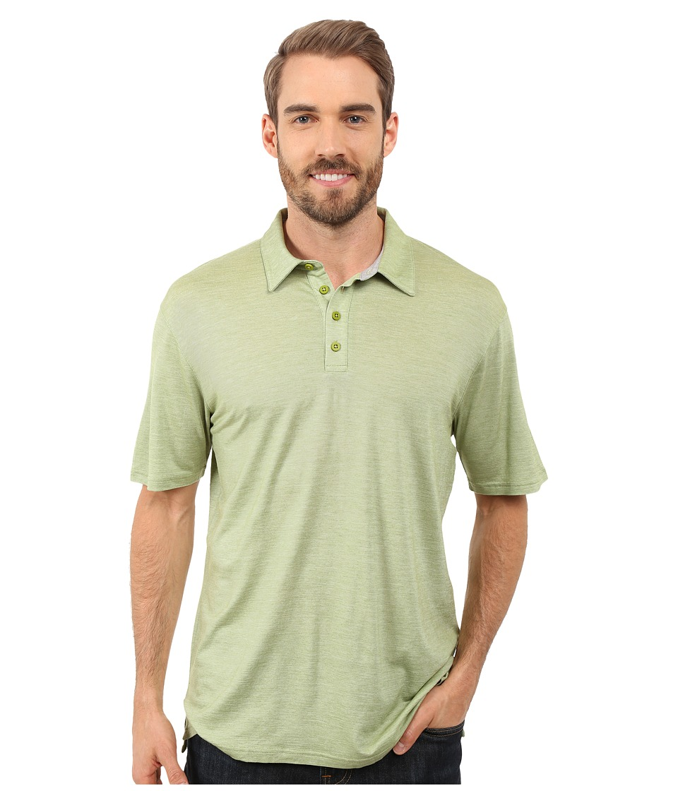 Smartwool - Fish Creek Solid Polo (Pesto) Men's Short Sleeve Pullover