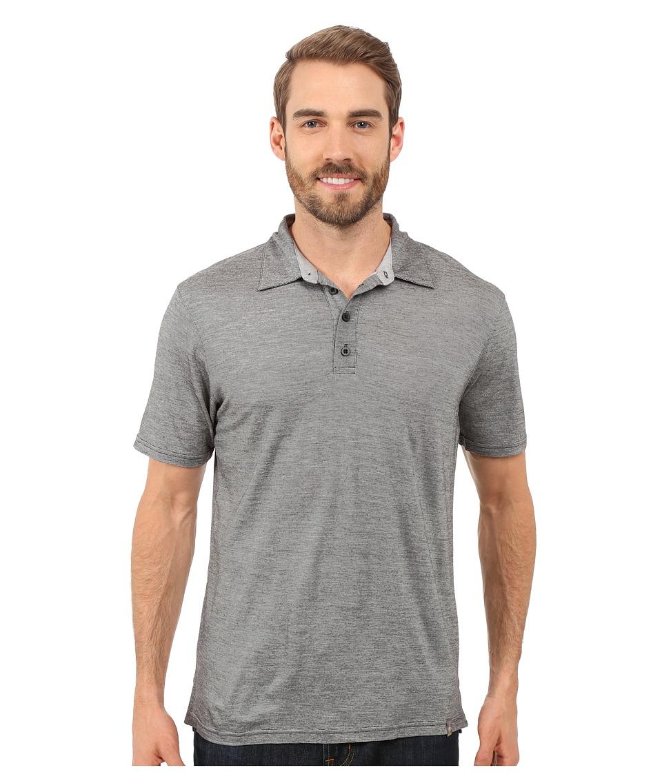 Smartwool - Fish Creek Solid Polo (Medium Gray) Men's Short Sleeve Pullover