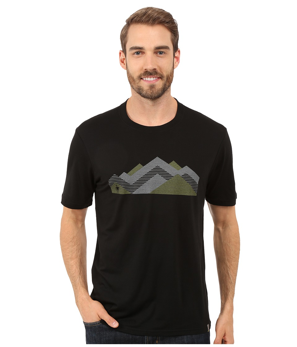 Smartwool - Mountain Range Tee (Black) Men