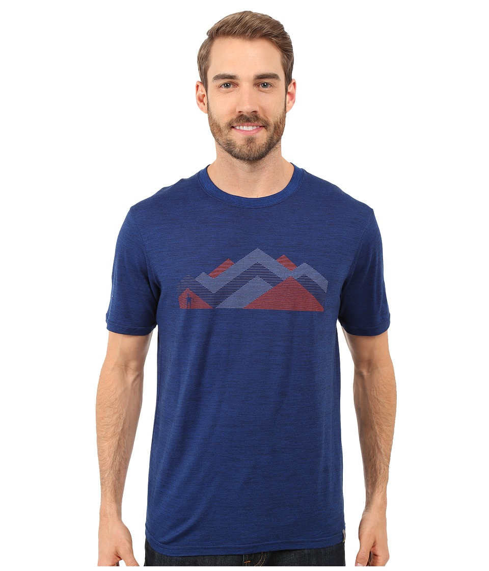 Smartwool - Mountain Range Tee (Deep Navy) Men's T Shirt