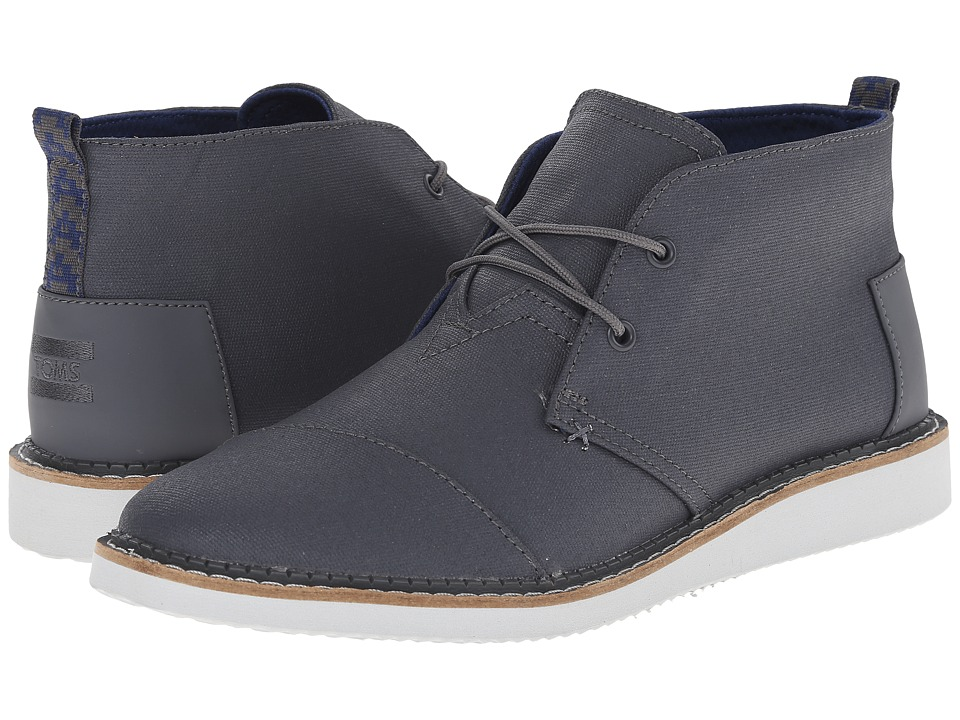 TOMS - Mateo Chukka Boot (Castlerock Grey Coated Canvas) Men's Lace-up Boots