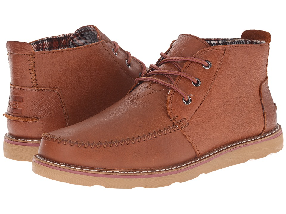 TOMS - Chukka Boot (Brown Full Grain Leather) Men's Lace-up Boots
