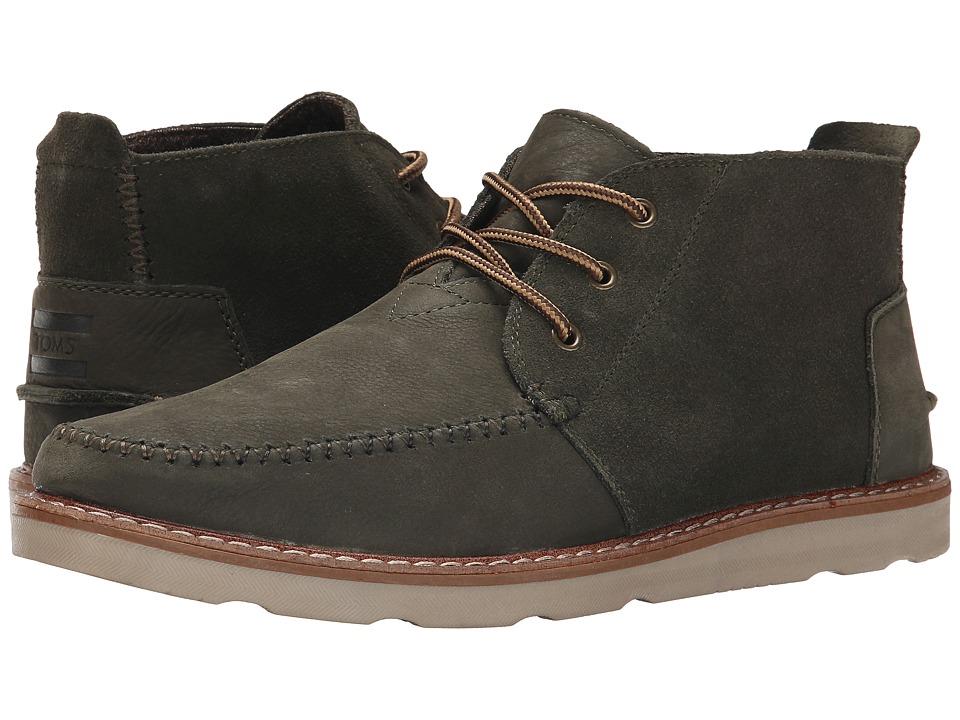 TOMS Chukka Boot (Tarmac Olive Suede/Full Grain Leather) Men