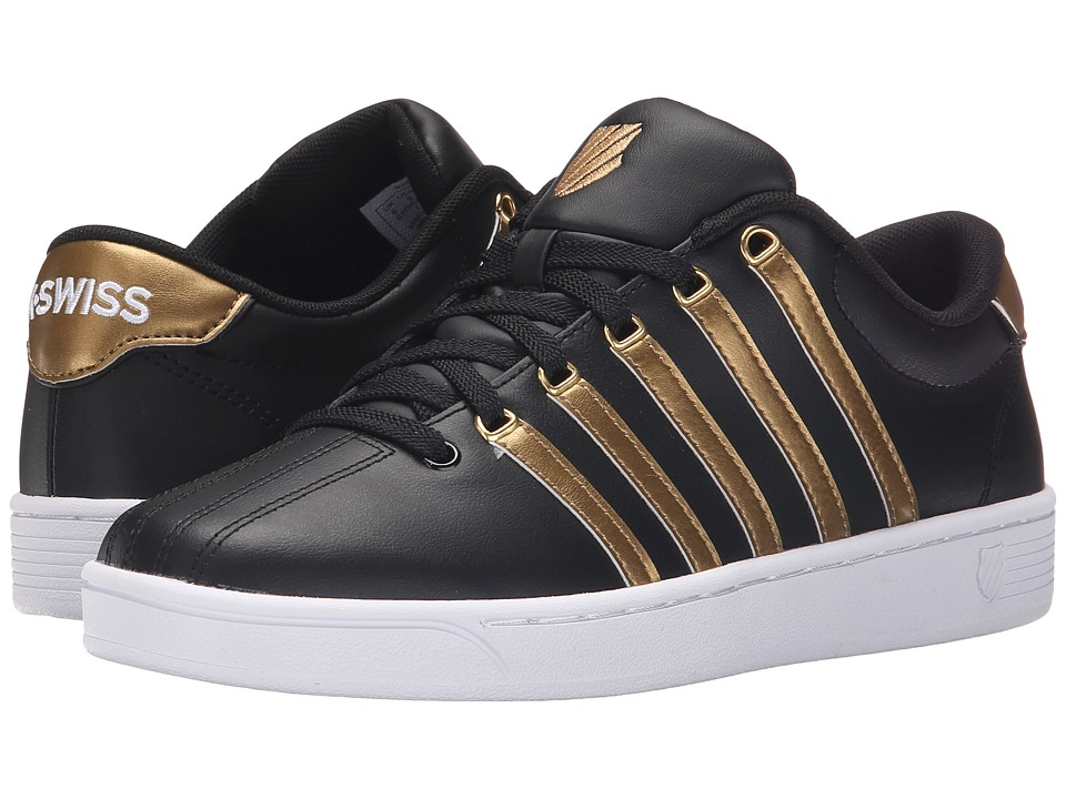 K-Swiss - Court Pro II CMF Metallic (Black/Gold Leather) Women's Lace up casual Shoes