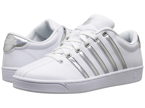 K-Swiss - Court Pro II CMF Metallic (White/Silver Leather) Women's Lace up casual Shoes