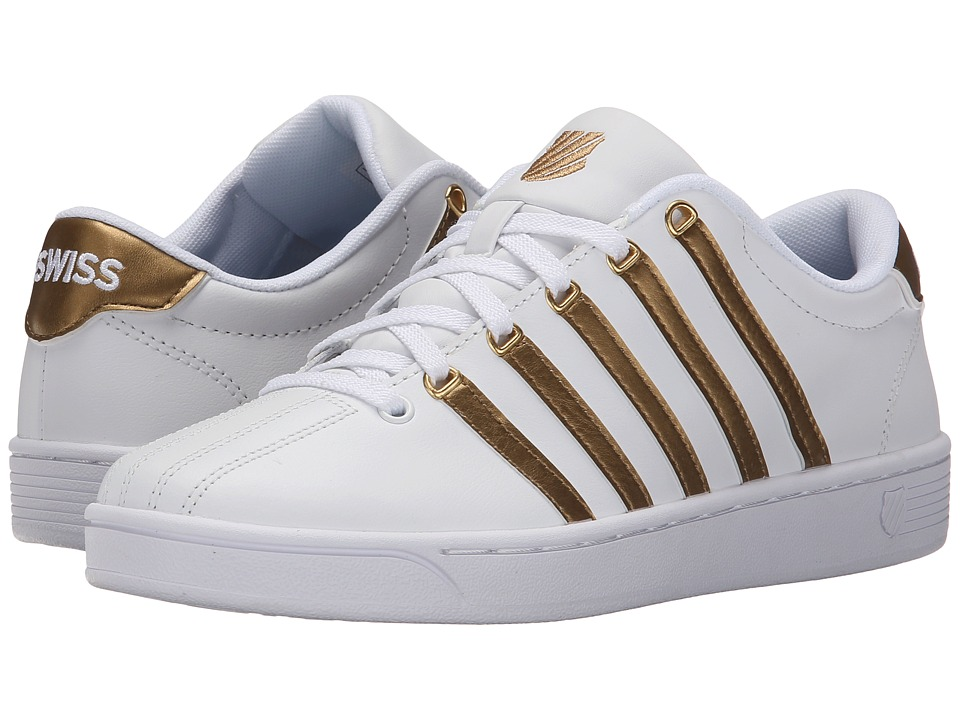 K-Swiss - Court Pro II CMF Metallic (White/Gold Leather) Women's Lace up casual Shoes