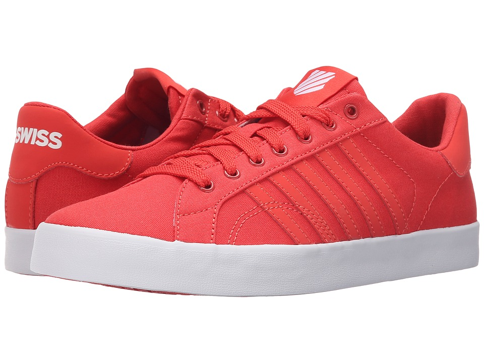 K-Swiss - Belmont SO T Sherbet (Cayenne/White Canvas) Women's Lace up casual Shoes