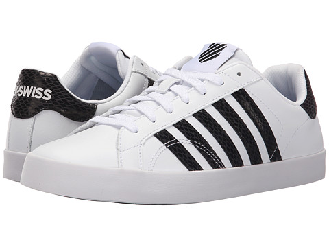 K-Swiss - Belmont SO Snake (White/Black Leather) Women