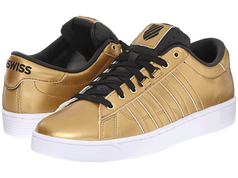 K-Swiss - Hoke Metallic CMF S (Gold/Black/White Metallic) Women's Lace up casual Shoes