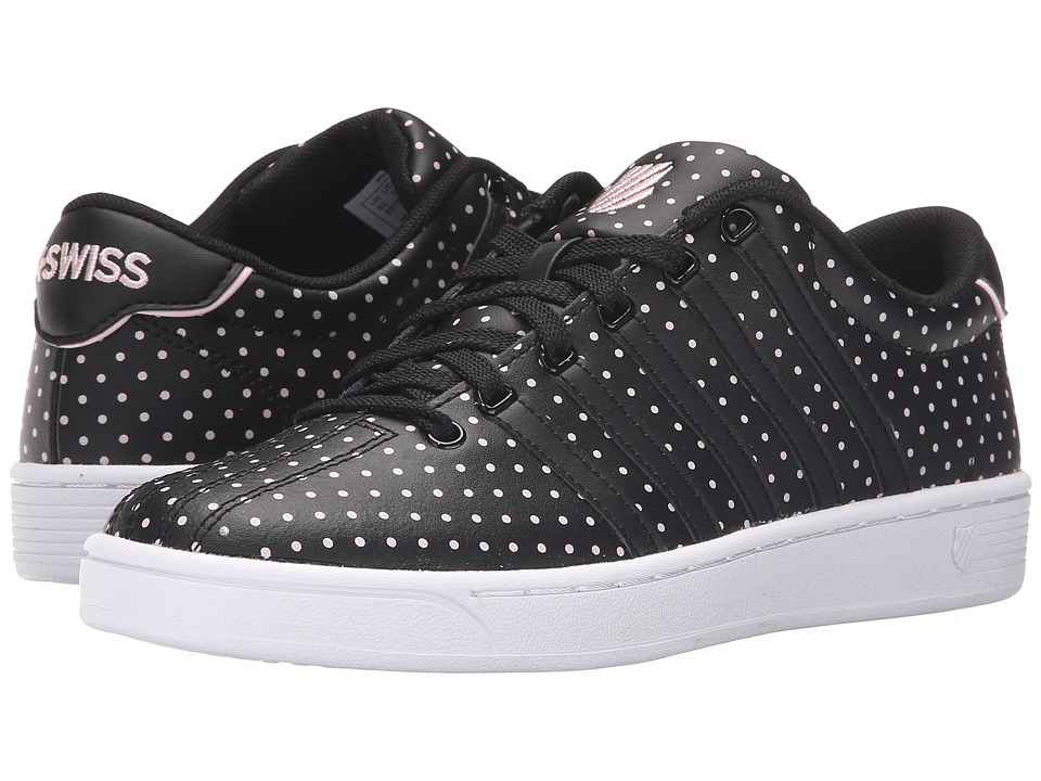K-Swiss - Court Pro II CMF Dots (Black/Blushing Bride Leather) Women's Lace up casual Shoes