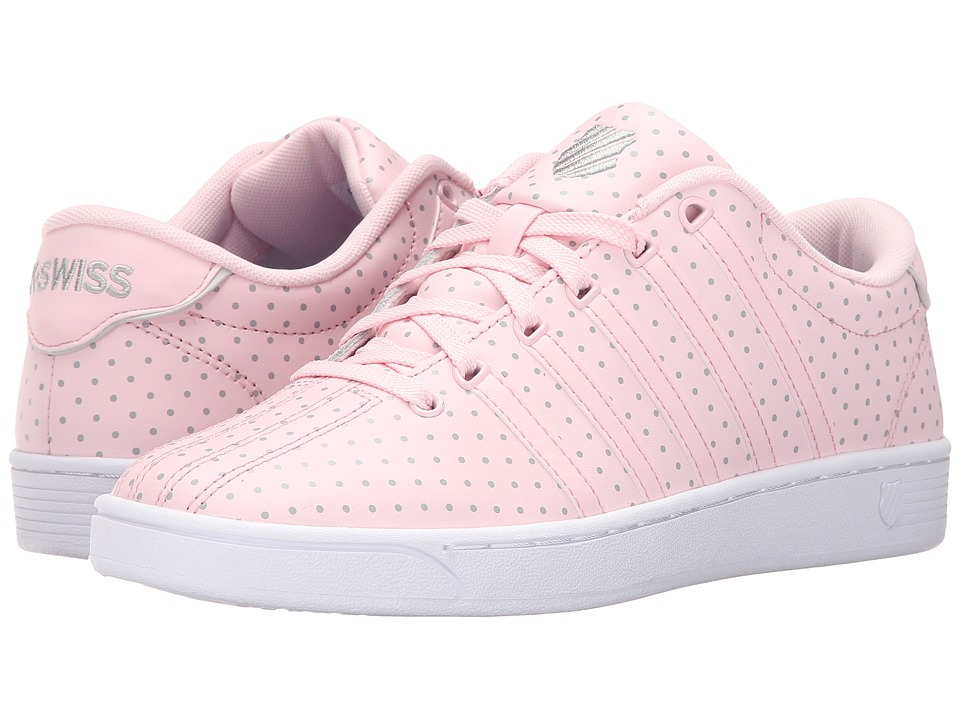 K-Swiss - Court Pro II CMF Dots (Blushing Bride/Gull Gray Leather) Women's Lace up casual Shoes