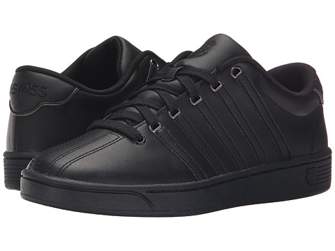 K-Swiss - Court Pro II CMF (Black/Gunmetal Leather) Women