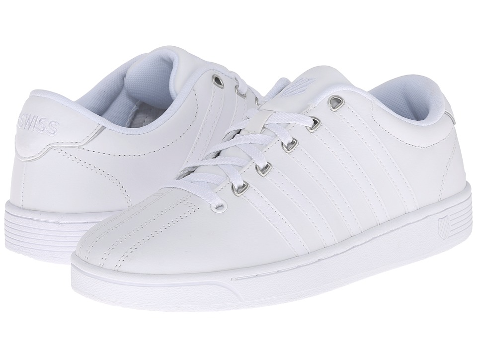 K-Swiss - Court Pro II CMF (White/Silver Leather) Women's Lace up casual Shoes