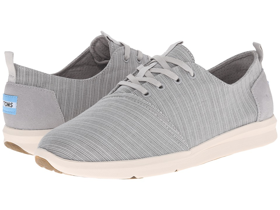 TOMS - Viaje Sneaker (Vapor Grey Striped Linen) Men's Lace up casual Shoes