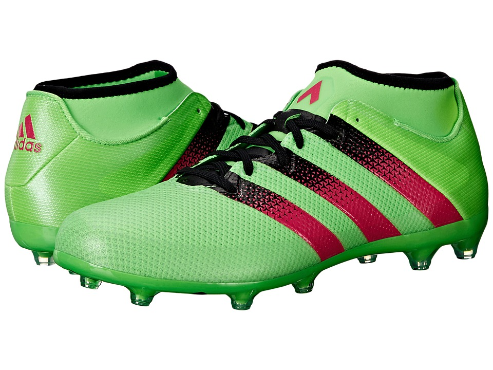 adidas - Ace 16.2 Primemesh FG/AG (Solar Green/Shock Pink/Black) Men's Cleated Shoes