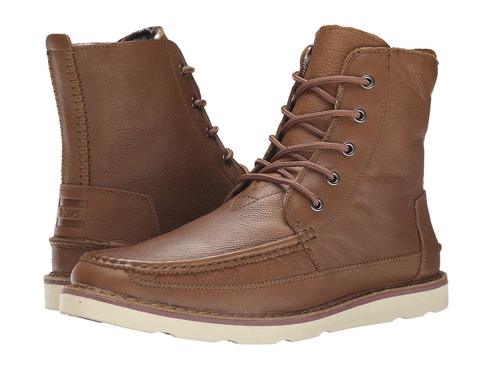 TOMS Searcher Boot (Brown Full Grain Leather) Men