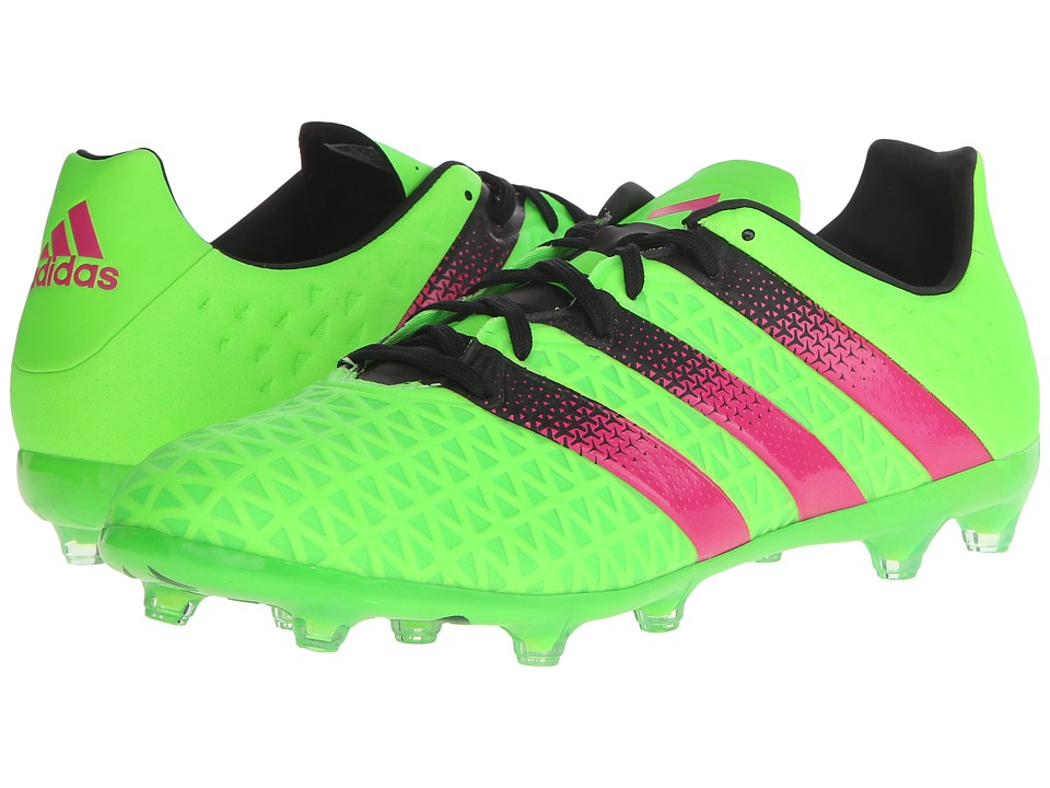 adidas - Ace 16.2 FG/AG (Solar Green/Shock Pink/Black) Men's Cleated Shoes