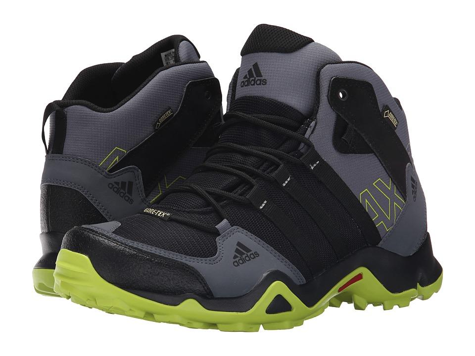 adidas Outdoor - AX 2 Mid GTX (Black/Semi Solar Slime/Onix) Men's Shoes