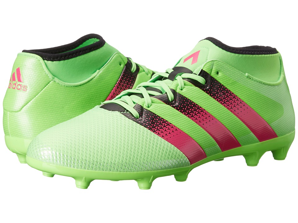 adidas - Ace 16.3 Primemesh FG/AG (Solar Green/Shock Pink/Black) Men's Soccer Shoes