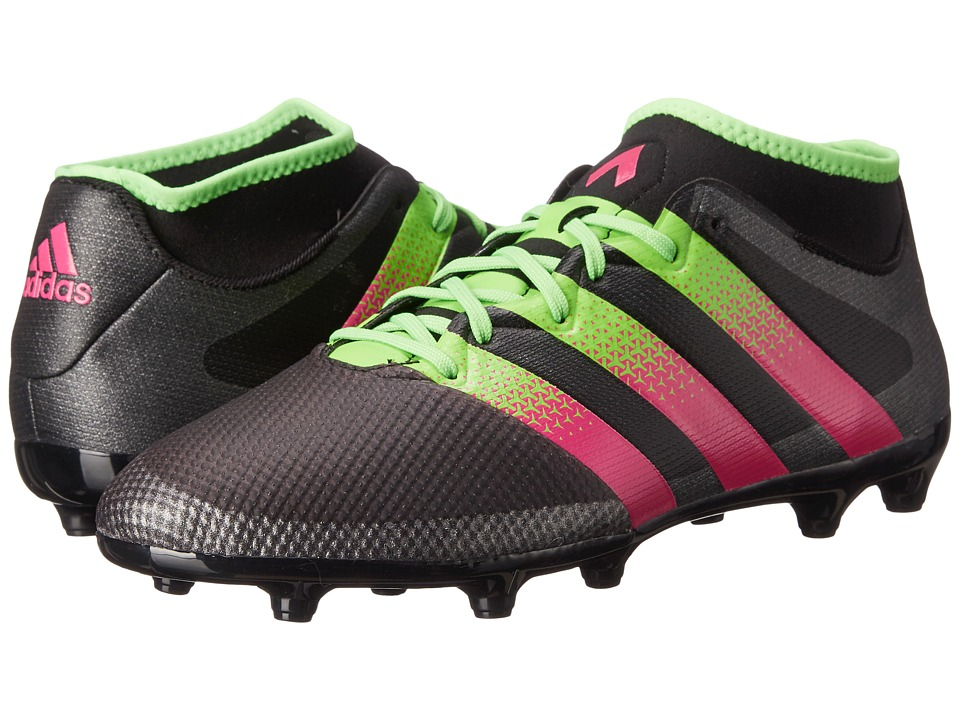 adidas - Ace 16.3 Primemesh FG/AG (Black/Solar Green/Shock Pink) Men's Soccer Shoes