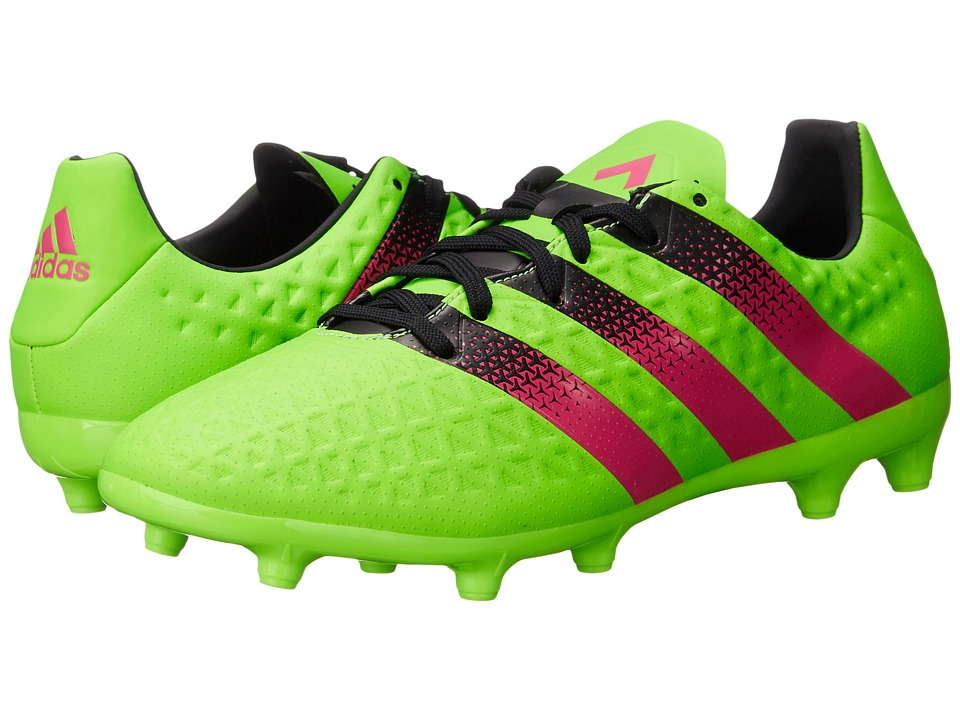adidas - Ace 16.3 FG/AG (Solar Green/Shock Pink/Black) Men's Soccer Shoes